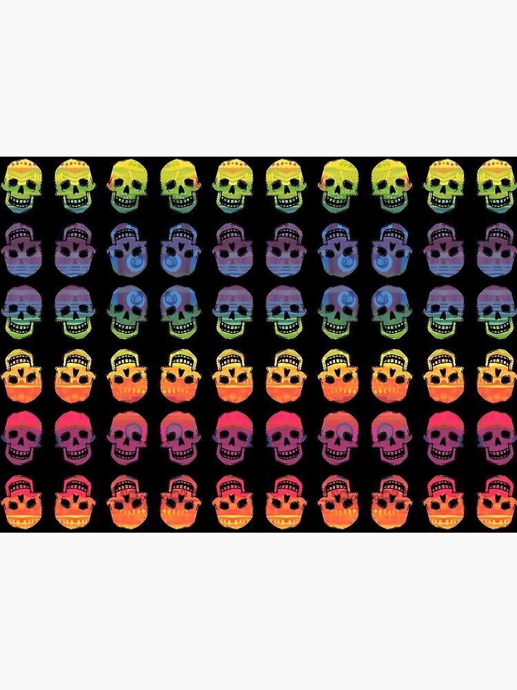 Rainbow Skulls Design- 2020 by gwennpaints
