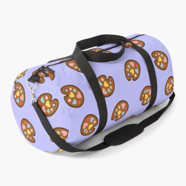 Heart Paint Palette Pattern on Lilac Duffle Bag