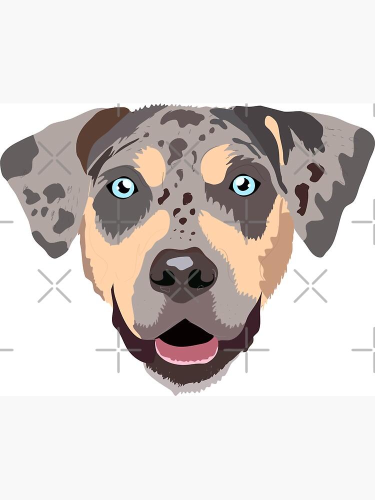 Dog Bone Shaped Car Magnets I LOVE MY CATAHOULA LEOPARD
