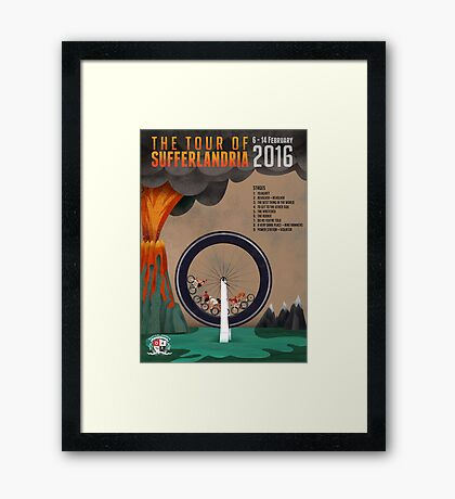 Tour of Sufferlandria 2016 - Official Artwork Framed Print