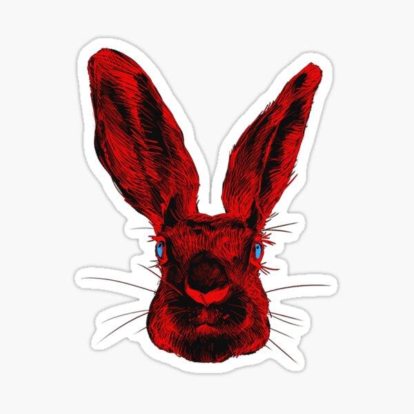 Red Rabbits Pod Sticker