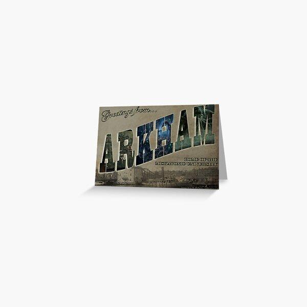 Arkham Postcard Art Greeting Card