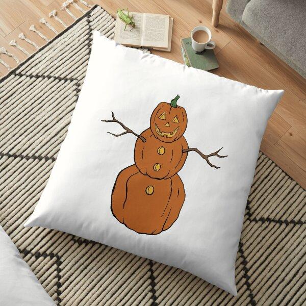 Pumpkin Snowman Floor Pillow