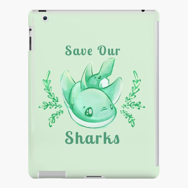 Save Our Sharks Sticker and Statement Design - Cute Baby Shark Illustration iPad Snap Case