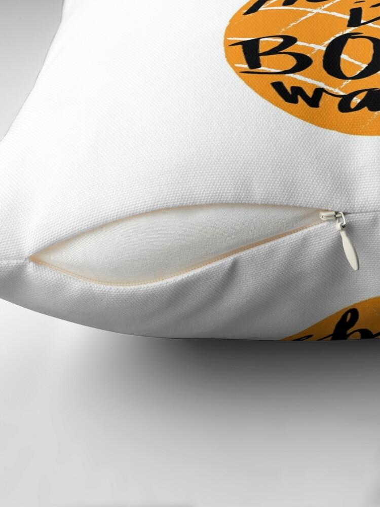 Alternate view of I've Heard it Both Ways Throw Pillow