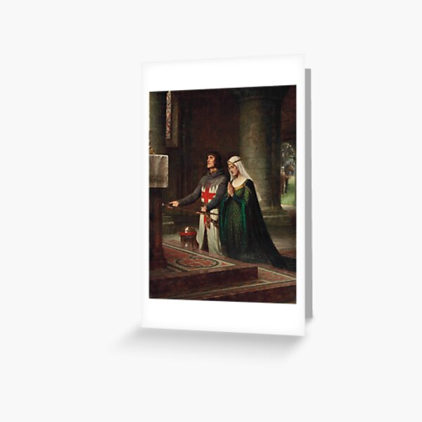 The Dedication (1908) - Edmund Leighton Greeting Card