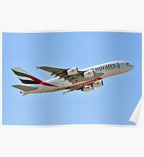 EMIRATES A380-861 REG A6-EEX Poster