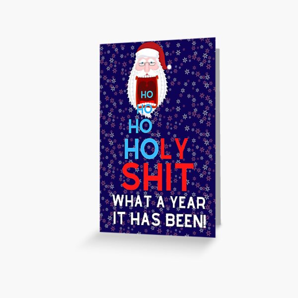 HO HO HO Holy shit - what a year it has been! Greeting Card