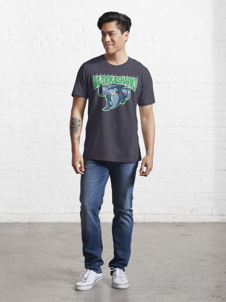 Alternate view of American Dad Bazooka Sharks Logo Essential T-Shirt
