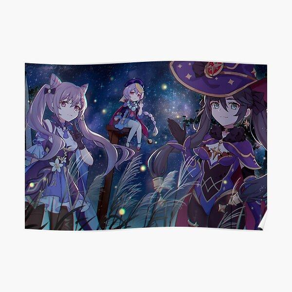 Genshin Impact Magical Anime Girls (Spiel 2020) Poster