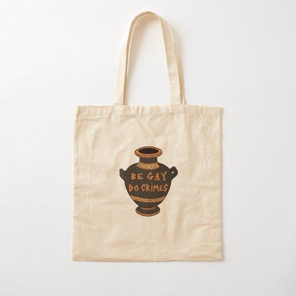 Ancient Greek Vase Be Gay Do Crimes Cotton Tote Bag