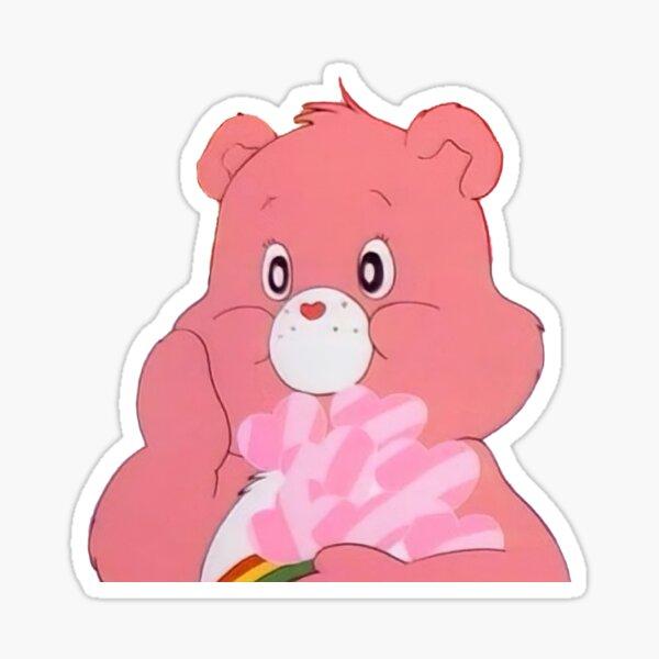 osos de cuidado rosa Pegatina