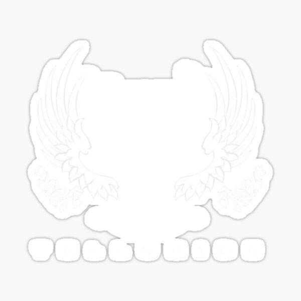 Beauty & Beast White Sticker