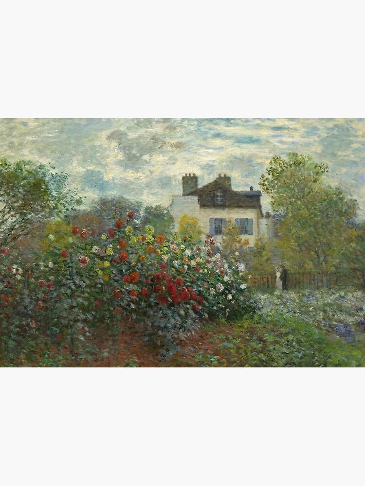 Claude Monet  A Corner of the Garden with Dahlias by podartist