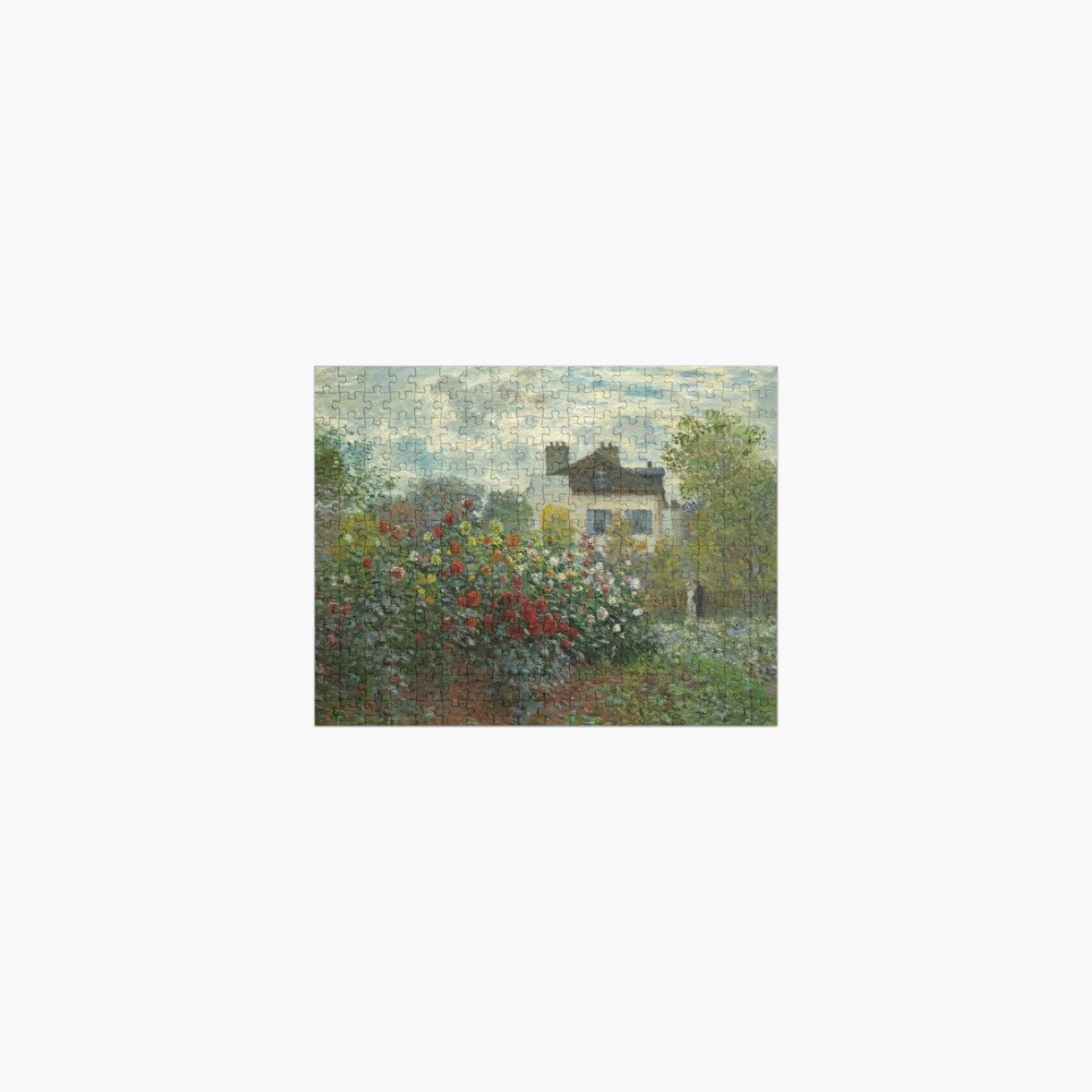 Claude Monet  A Corner of the Garden with Dahlias Jigsaw Puzzle