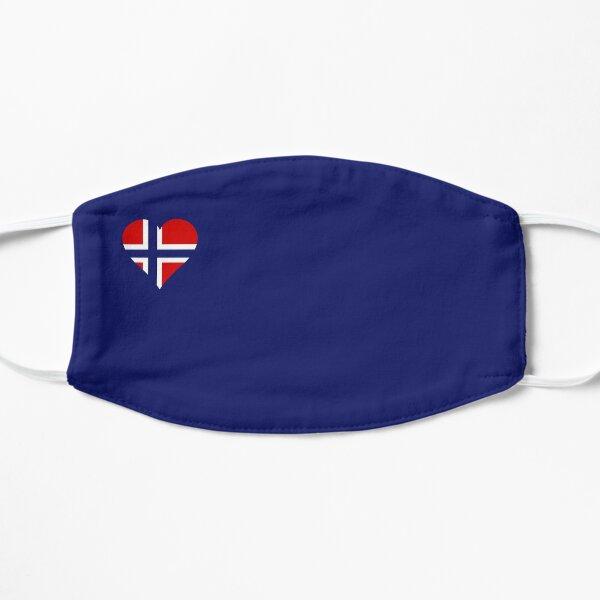 Norwegen Flagge Herz blau Flache Maske