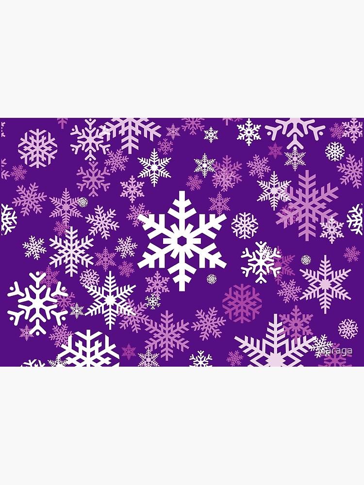 Snowflakes Pattern in Purple by Garaga