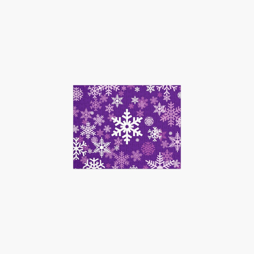 Snowflakes Pattern in Purple Jigsaw Puzzle