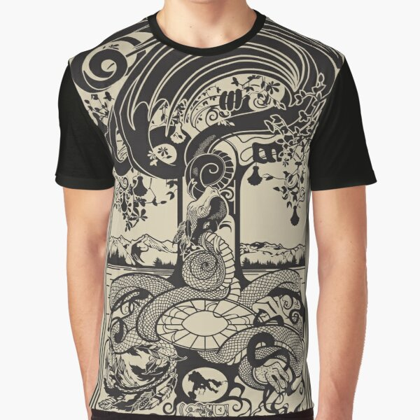 Double Dragons of the World Tree Graphic T-Shirt