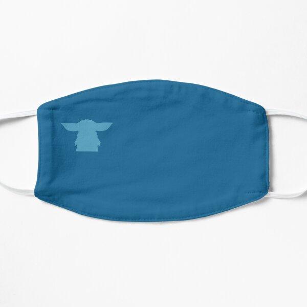 Alien Silhouette -  Blue Flat Mask