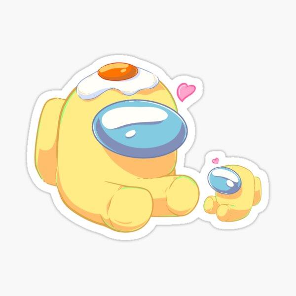 Yellow Crew Mate with Tiny Baby Sticker