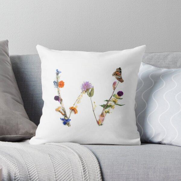 """Flora & Fauna Letter """"W"""" Throw Pillow"""