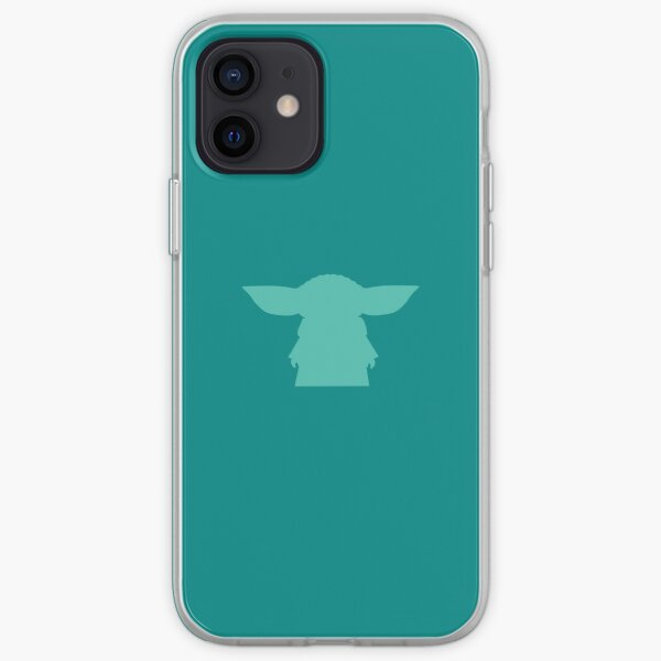 Alien Silhouette - Turquoise iPhone Soft Case