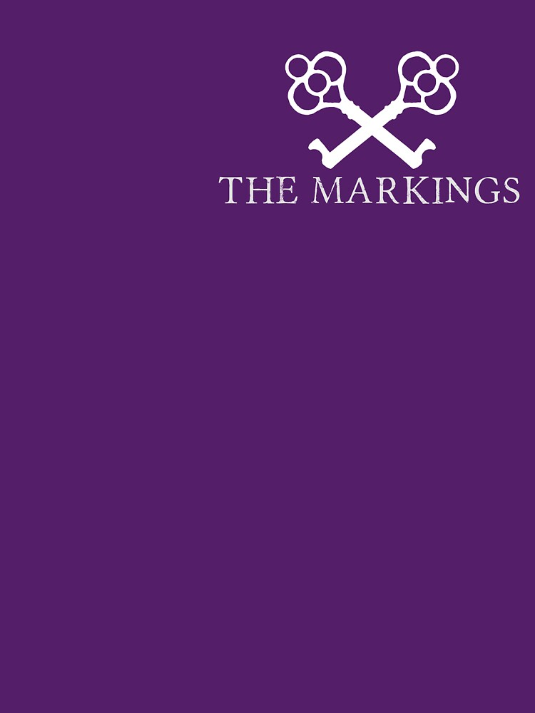 The Markings Logo (White) by catherinedownen