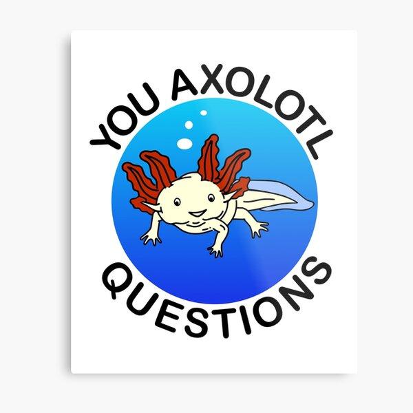 You Axolotl Questions Metal Print