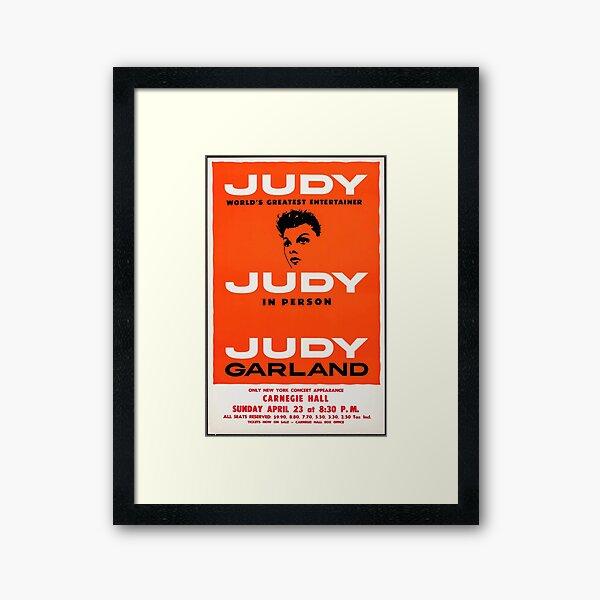 Judy Garland Live at Carnegie Hall Poster Framed Art Print