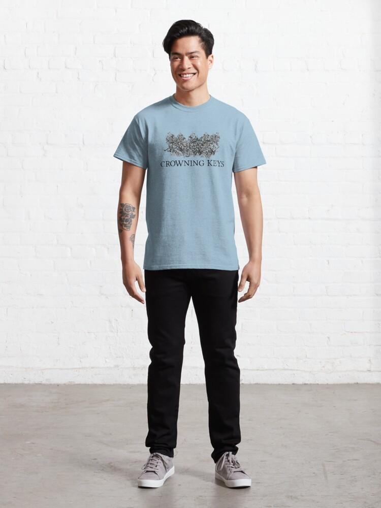 Alternate view of Crowning Keys Logo (Black) Classic T-Shirt