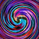 Modern Colorful Swirl Abstract Art #2 by Nhan Ngo