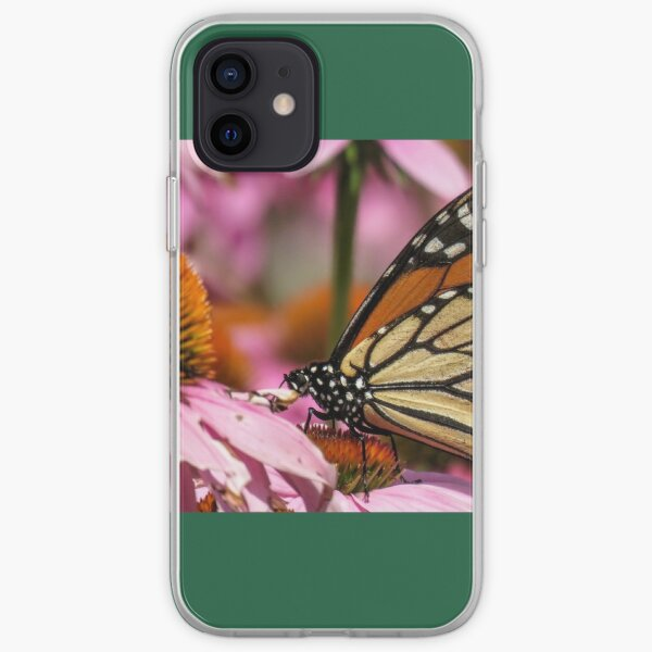 butterfly on cornflowers  iPhone Soft Case