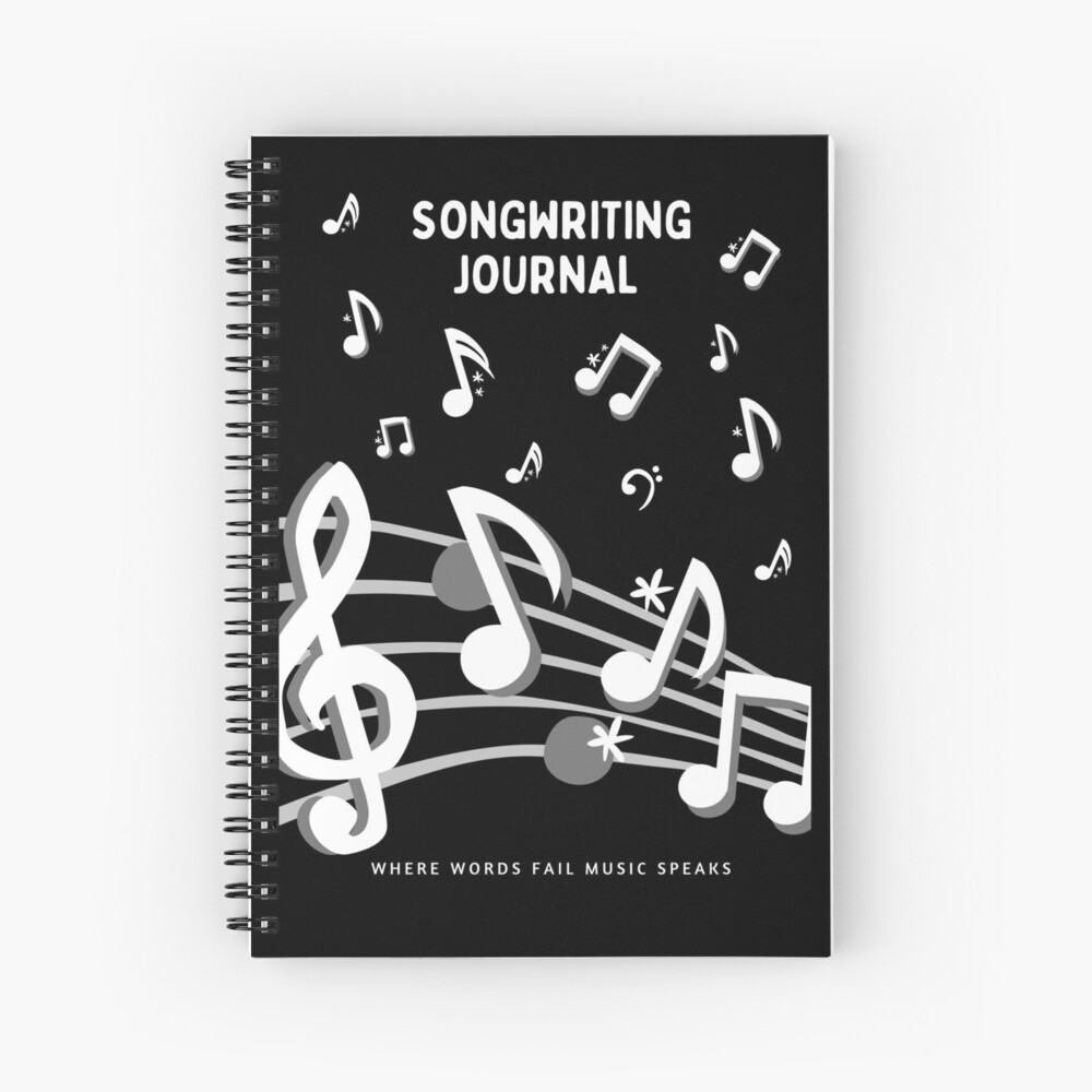 Songwriter's Journal Notebook: Journal Notebook Gifts For Songwriters Spiral Notebook