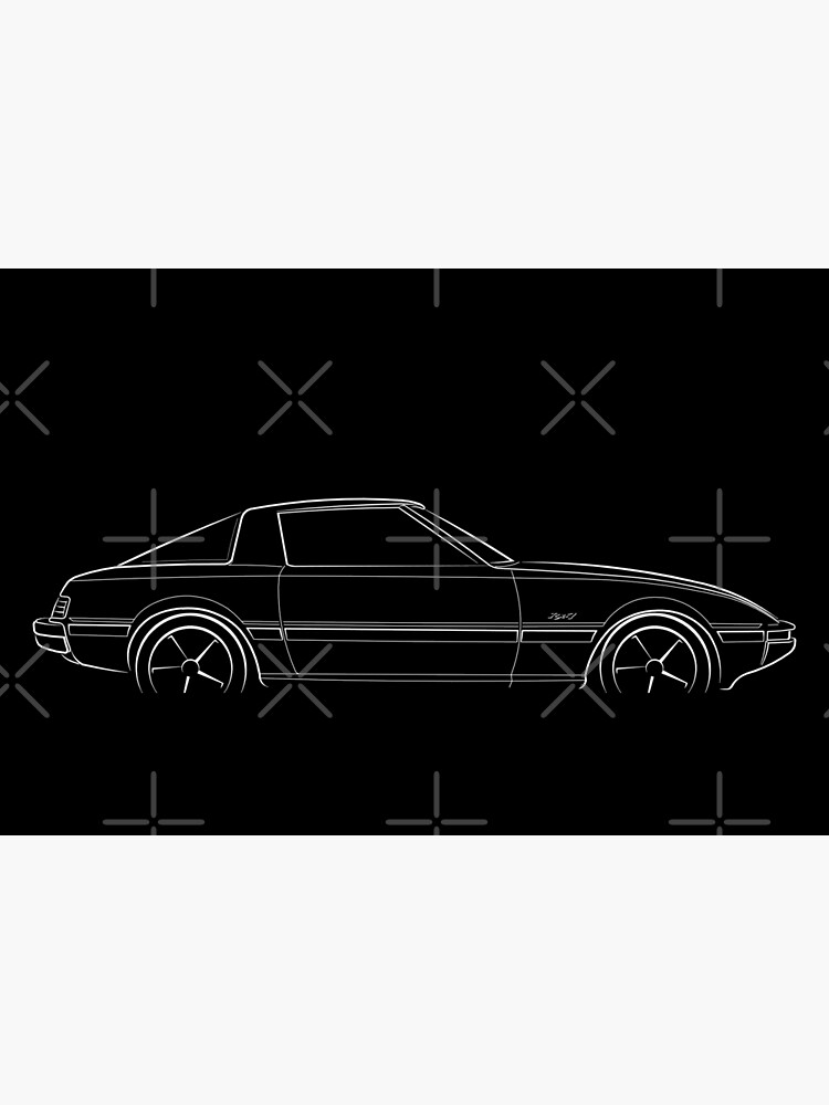 Mazda RX-7 FB - profile stencil, white by mal-photography