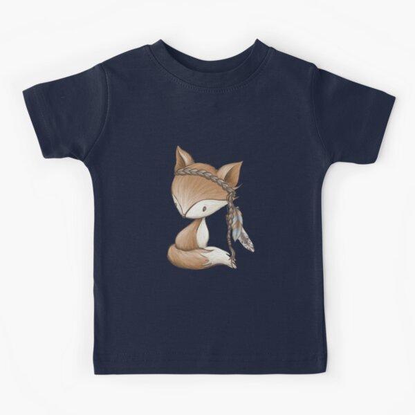 Fox boho forest animals Woodland Kids T-Shirt