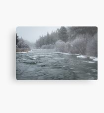 Winter On The Deschutes River Metal Print