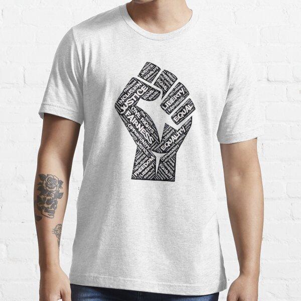 Afroamerikaner Bürgerrechte Black Power Faust Gerechtigkeit Design Essential T-Shirt