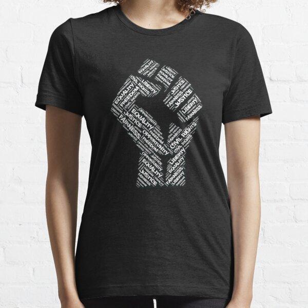 Bürgerrechte Black Power Faust Gerechtigkeit Design Essential T-Shirt