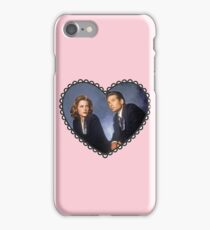 mulder and scully heart iPhone Case/Skin
