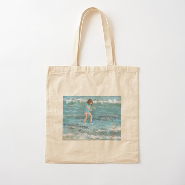 Dancing with Sharks Cotton Tote Bag
