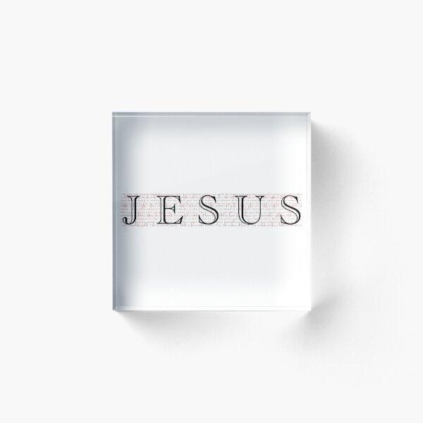 What A Beautiful Name - Jesus Acrylic Block