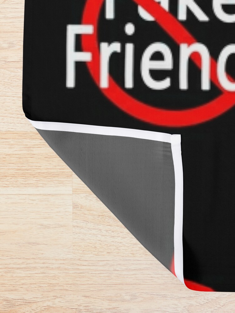 Alternate view of No More Fake Friends Shower Curtain