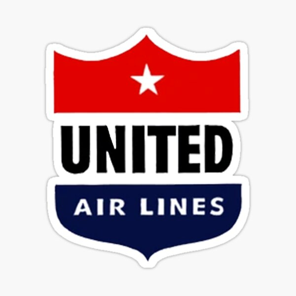 United Airlines vitange logo Sticker