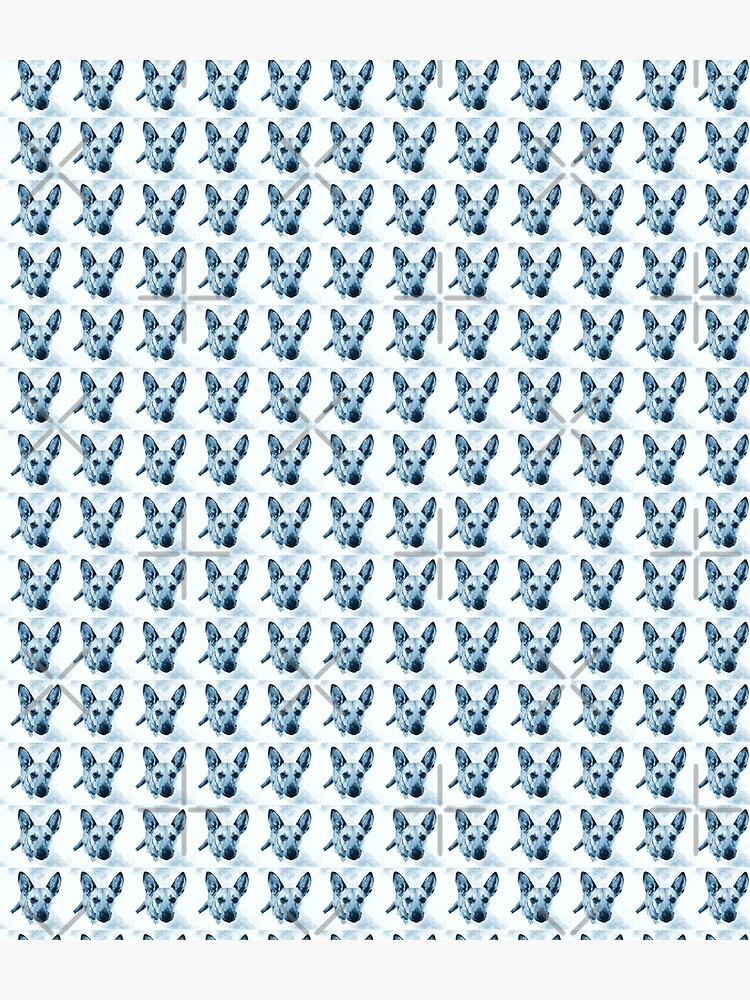 Carolina Dog Blue Pup - American Dingo by OneDayArt