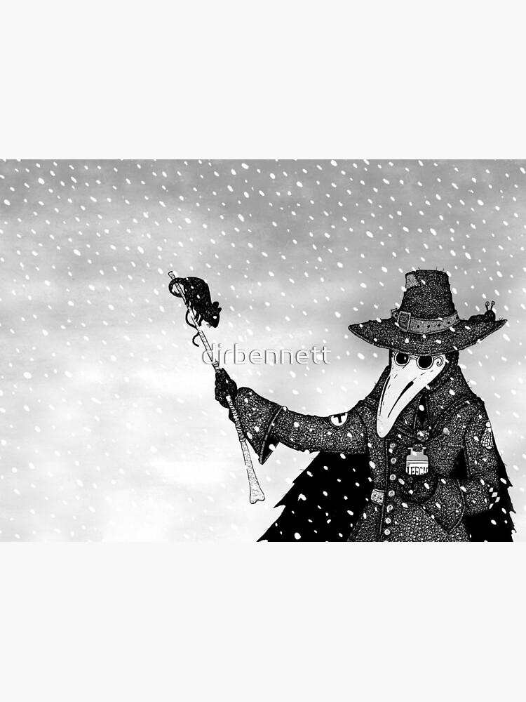 Plague Doctor in the Snow by djrbennett