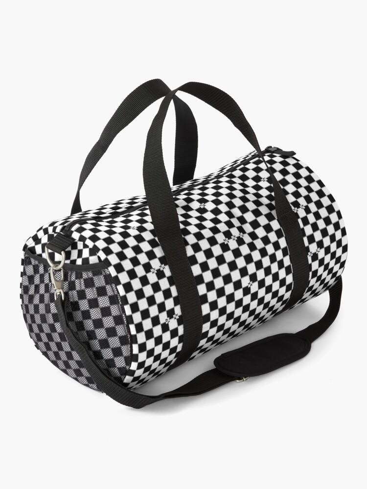 Alternate view of Black and White Checkered Ska Racing Backpack Duffle Bag