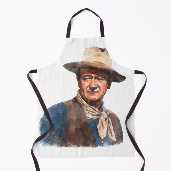 """John Wayne """"The Duke"""" - Watercolor Apron"""