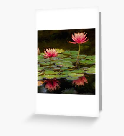 Impressions of pink lilies Greeting Card