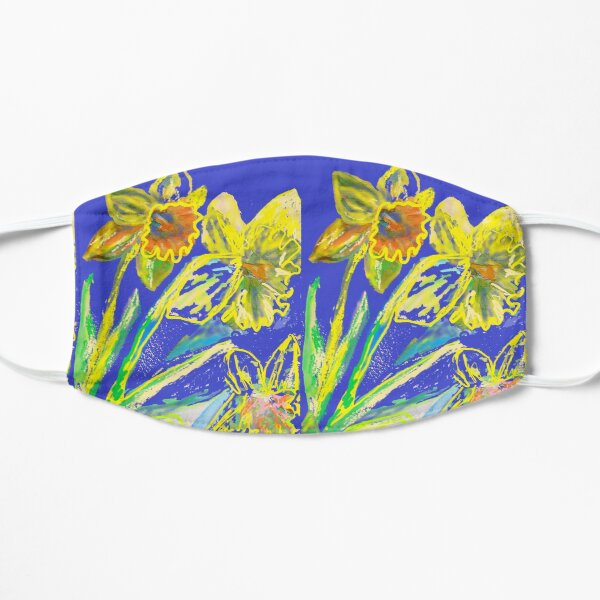 Crazy Abstract Daffodil - flower floral modern design Mask